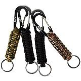 EOTW 4 Pack Corde Tressée avec Porte-clés et Mousqueton, Porte clefs très pratique, Idéal pour la rando et le bushcraft...