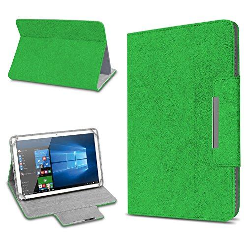 Tablet Schutz Hülle für 10 Zoll Filz Tasche Schutzhülle Case Cover Standfunktion, Farbe:Grün, Tablet Modell für:ODYS Ieos Quad 10 Pro