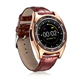 Familizo TQ920 Heart Rate Blood Pressure Monitor Slot Wrist Waterproof Bluetooth Smart Watch (☆Gold)