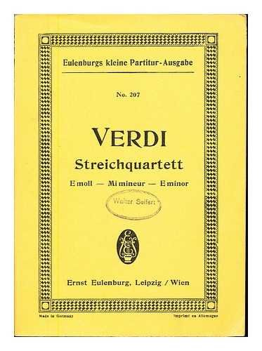 Quartett No. 4, E-moll : fur 2 Violinen, Viola und Violoncell