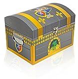 Ritter Schatzkiste - Groß - Schatztruhe Dekoration für Geburtstag, Hochzeit oder Mottoparty - Box Truhe Kiste für kleine und große Ritter