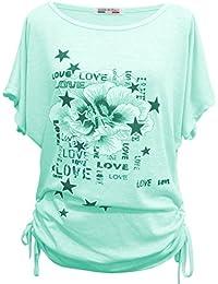 Emma & Giovanni - T-shirt Imprimé Etoile Manche Courte - Femme