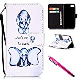 iPhone 7 Case, iPhone 7 Wallet Case, Firefish [Kickstand] Design [Card/Cash Slots] Premium PU Leather Wallet Flip Cover with Wrist Strap for Apple iPhone 7 4.7