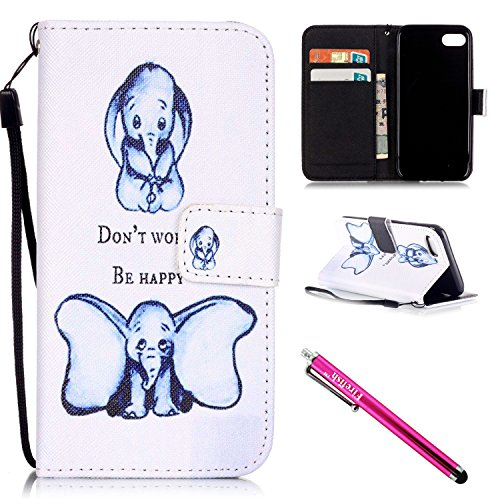 Custodia iPhone 7, Firefish di KickStand Flip [slot per schede] Portafoglio Custodia Double Layer respingente di Shell con la cassa della cinghia chiusura magnetica per Apple iPhone