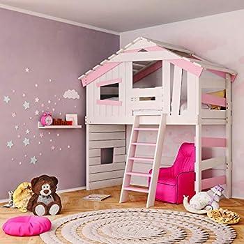 Jugend- und Kinderbett, Hochbett, Mädchenbett, Etagenbett