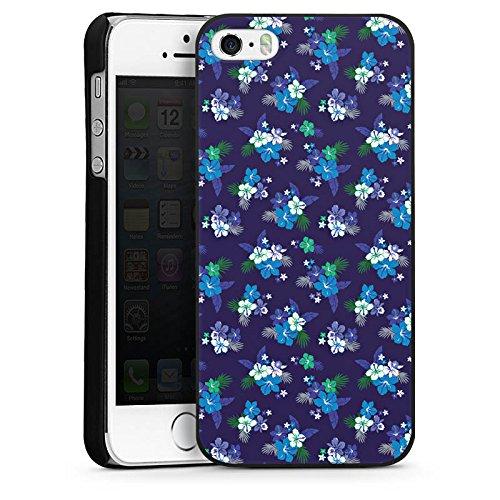 Apple iPhone 4 Housse Étui Silicone Coque Protection Fleur Fleurs Fleurs CasDur noir