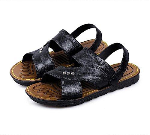 sandali degli uomini, adolescenti, scarpe da spiaggia, sandali di scuola media, nero, US9.5 / EU42 / UK8.5 / CN43 US9.5/EU42/UK8.5/CN43