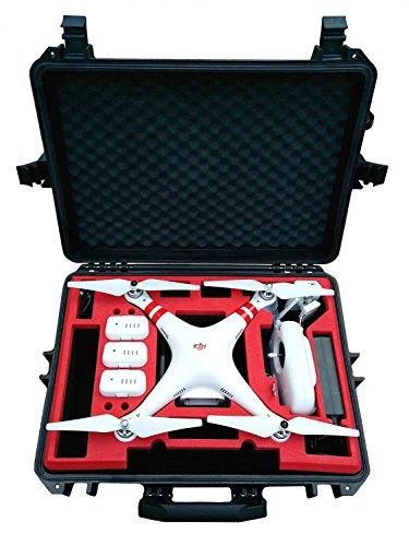 Koffer / Transportkoffer von MC CASES passend für DJI Phantom 2 Vision und Vision Plus vorgefertigt - Ready to use - Platz für 6 Akkus ...