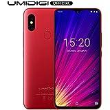 UMIDIGI F1, Smartphone Portable Débloqué 4G Android 9.0 Ecran 6.3 Pouces FHD+128 Go, Octa-Core, Helio P60 AI, Batterie 5150 mAh, Double SIM 4G Volte, NFC, Double Caméras 16MP+8MP - Rouge
