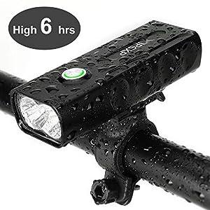 IPSXP Luz de Bicicleta, USB Recargable Luz de Delantera Faro LED Bicicleta, 1000 Lúmenes Linterna de Emergencia para Ciclismo Carretera Montaña, IPX5 Resistente al Agua, 2 Gratis Banda Reflectante