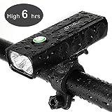 IPSXP LED Fahrradbeleuchtung Set, USB Wiederaufladbare Fahrradlicht Fahrradlampen Set 1000 LUX / 500 m Sichtbarkeit, Abnehmbar Tragbare Taschenlampe, IPX5 Wasserdicht, Kostenlos 2 Reflektorband