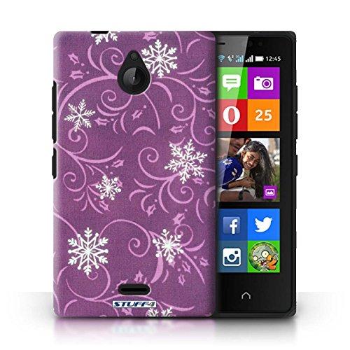 Kobalt® Imprimé Etui / Coque pour Nokia X2 Dual Sim / Noir conception / Série Motif flocon de neige Rose
