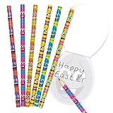 Baker Ross Bleistifte mit Lustigen Eiergesichtern für Kinder – Perfekt als Ostergeschenk Oder als Kleine Party-Überraschung für Kinder (12 Stück)