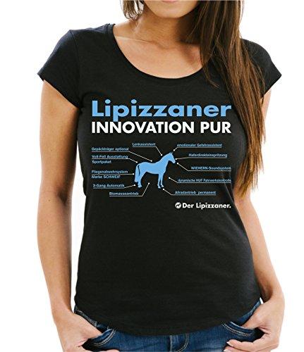 Siviwonder WOMEN T-Shirt INNOVATION - LIPIZZANER - Pferde Fun reiten Schwarz