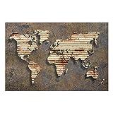 Bilderwelten Glasbild - Rost Weltkarte - Quer 2: 3, Größe HxB: 80cm x 120cm