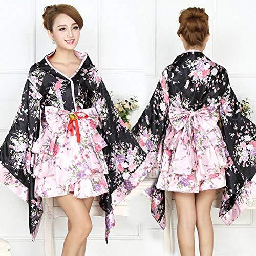 Alte Kostüm Dienstmädchen - GUAN Halloween-Partykleid 6-teiliges Set Voller Satz Schwerer Kirschblüten-Cosplay-Anime-Kleidung Kimono-Dienstmädchen-Kleidung