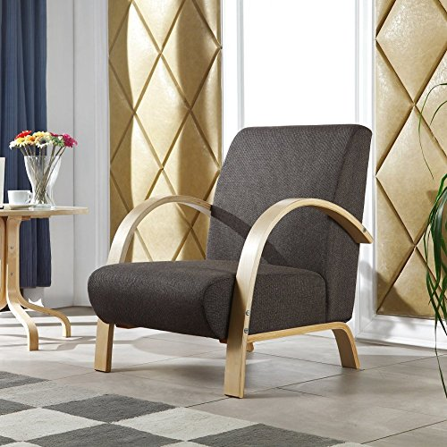 i-flair® - Polstersessel - Lounge Sessel - Dunkelgrau