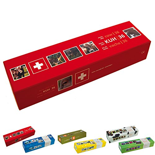 ebos Memospiel ✓ 36 Bildpaare | Motive ✓ 72-teilig ✓ Gedächtnisspiel | Kartenspiel | Kinder-, Jugendlichen- und Erwachsenen-Spiel (Kuh | CH)