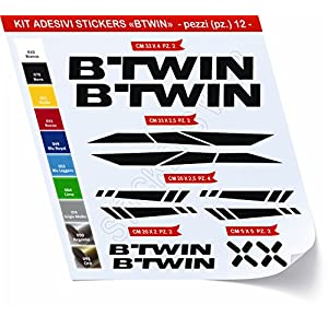 51k0dAYCtOL. SS300 Adesivi Bici BTWIN_Kit 2_ Kit Adesivi Stickers 12 Pezzi -Scegli SUBITO Colore- Bike Cycle pegatina cod.0480