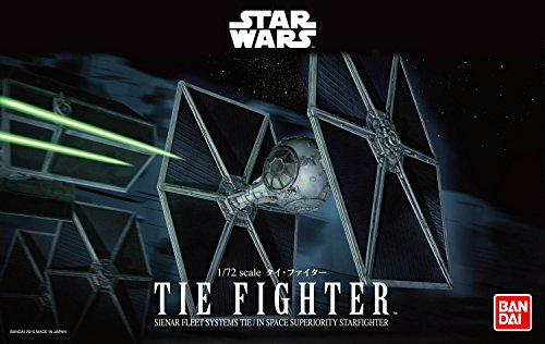 Revell Bandai 01201 Disney Star Wars TIE Fighter originalgetreuer Modellbausatz für Experten, Mehrfarbig, 1/72 (Wars-flotte Star)