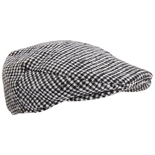 Textiles Universels Casquette Plate - Homme (M/L) (Noir/Blanc)