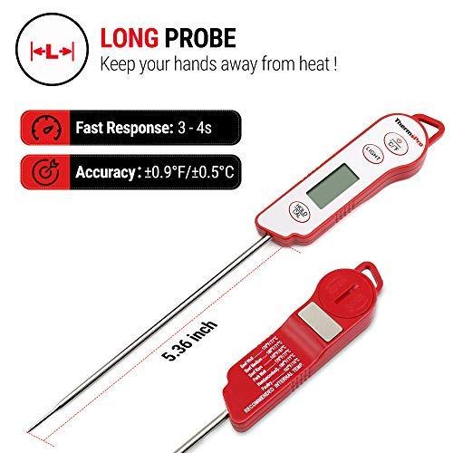 Zoom IMG-1 thermopro tp15 termometro cucina impermeabile