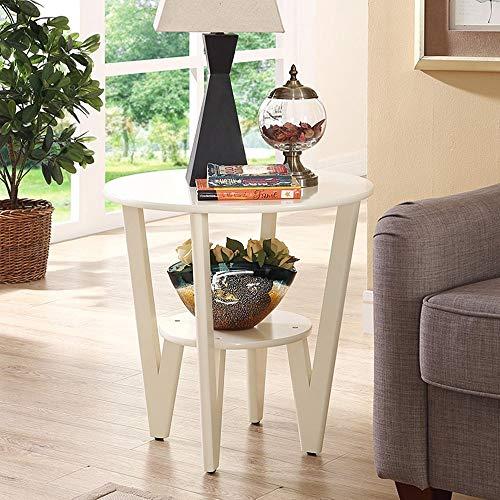 YueQiSong Nordic Kleinen Couchtisch Einfache Moderne Wohnzimmer Teetisch Hause Teetisch Mini Kreative Runde Einfache Tisch, Milchig -
