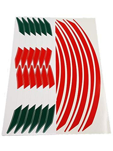 Villa D '10398Wheel Rim Adhesiva Bandera Italia