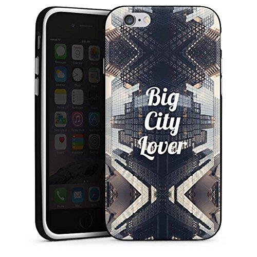 Apple iPhone X Silikon Hülle Case Schutzhülle City Hochhaus Statement Silikon Case schwarz / weiß