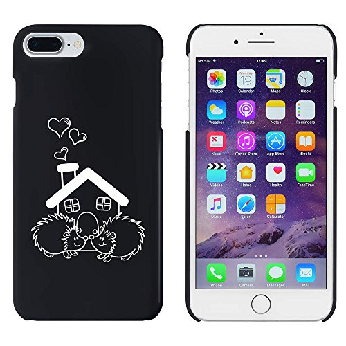 Azeeda Schwarz \'Igel-Haus\' Hülle für iPhone 7 Plus (MC00153097)