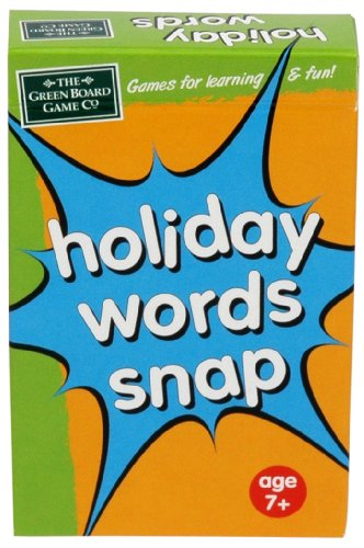 Imagen 2 de Green Board Games Holiday Words Snap - Juego educativo sobre idiomas (importado de Reino Unido)