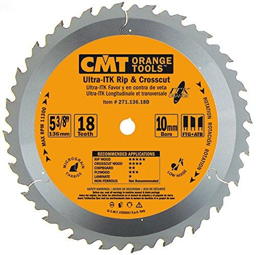 CMT ORANGE TOOLS 271 136 18D - SIERRA CIRCULAR ( ULTRA ITK ) 136X1 3X10 Z 18