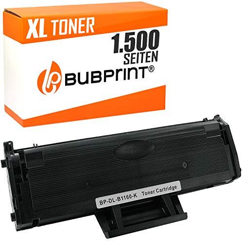 Bubprint Toner kompatibel für Dell 593-11108 für B 1160 B1160 B1160W B1163W B1165NFW B1100 Series 1.500 Seiten Schwarz/Black -