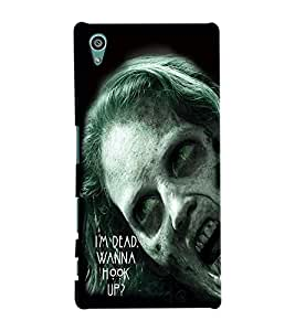 Fuson Scary Girl Back Case Cover for SONY XPERIA Z5 - D3796