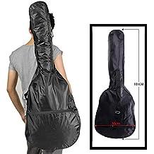 Wss–nero 96,5cm pollici universale della borsa a tracolla custodia per il trasporto per chitarra classica Guitar Student beginner protettiva impermeabile cinghia regolabile