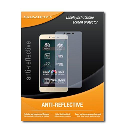 SWIDO Schutzfolie für Allview P7 Pro [2 Stück] Anti-Reflex MATT Entspiegelnd, Hoher Härtegrad, Schutz vor Kratzer/Bildschirmschutz, Bildschirmschutzfolie, Panzerglas-Folie