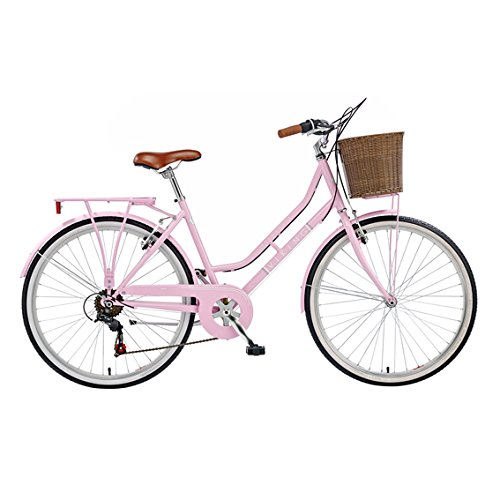 Viking Women's Belgravia 26 Inch Wheel Heritage Bike – Pink, 16 Inch