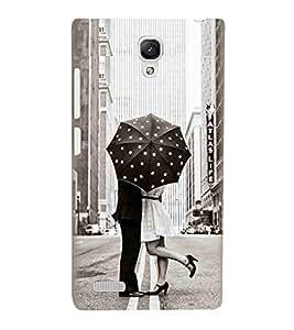 For Xiaomi Redmi Note Prime couple kiss ( couple, umbrella, polka, city, road ) Printed Designer Back Case Cover By Living Fill