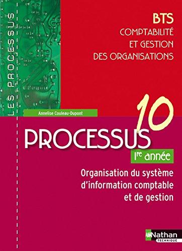 Processus 10 - Organisation du système d'information comptable et de gestion - BTS CGO 2e année