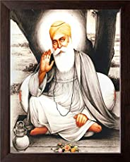 Art n Store Gurunanak Devji Giving Blessing/Acrylic High Contrast HD Printed Picture/Wall Painting with Frame