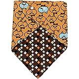 Koly Lindo babero de bebé Baby impermeable toalla de la saliva, triángulo baberos (Amarillo)