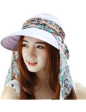 TININNA pieghevole Boemia floreale Floppy Grande tesa larga Cappello della spiaggia Cappello di Sun Visiera Cappello...