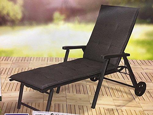 Auflage für Gartenliege Premium Liege Liegenauflage Sonnenliege (Dunkelgrau)