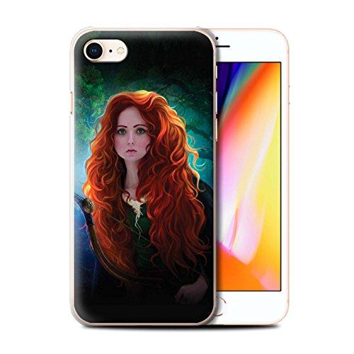 Offiziell Elena Dudina Hülle / Case für Apple iPhone 8 / Goldenes Haar Muster / Märchen Charaktere Kollektion Prinzessin
