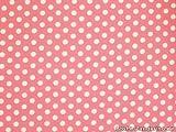 ab 1m: Baumwollstoff mit Punkten, 0,8cm, rosa, ca. 135cm