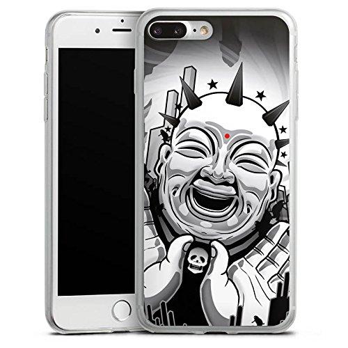 Apple iPhone X Slim Case Silikon Hülle Schutzhülle Buddha Schwarz Weiß Kunst Silikon Slim Case transparent