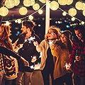 EKKONG Led Lichterkette,Verbesserte Version mit Fernbedienung und Timer, Lampion 30LEDs 7.8m Laterne Wasserdichte Gartenbeleuchtung, Batteriebetrieben (Warmweiß) von EKKONG auf Lampenhans.de