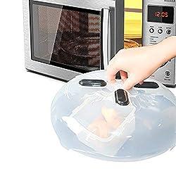 Meer Magnetische Mikrowellenhaube, Mikrowellenabdeckung für Teller und Essen, Spritzschutz mit Dampfaustritt, sicher für Spülmaschinen, BPA frei, 27.94cm