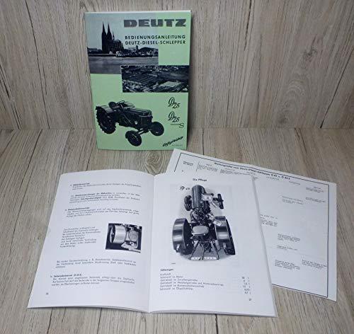 Bedienungsanleitung Deutz Schlepper Traktor D25 D25S H1155-3/3