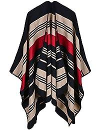 172b2be46447 Étole Femme Automne Hiver Épaisseur Fashion Warm Cachemire Chale Elégante  Rayures Classique Vintage Cape Clothing Le Châle…